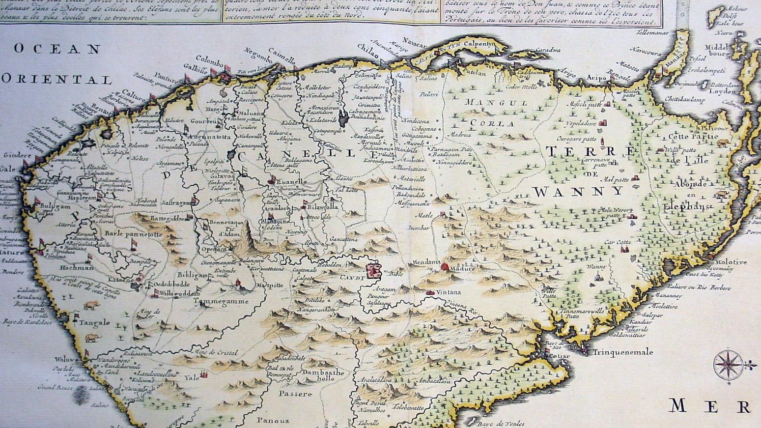 1719城主大古董地图锡兰-斯里兰卡