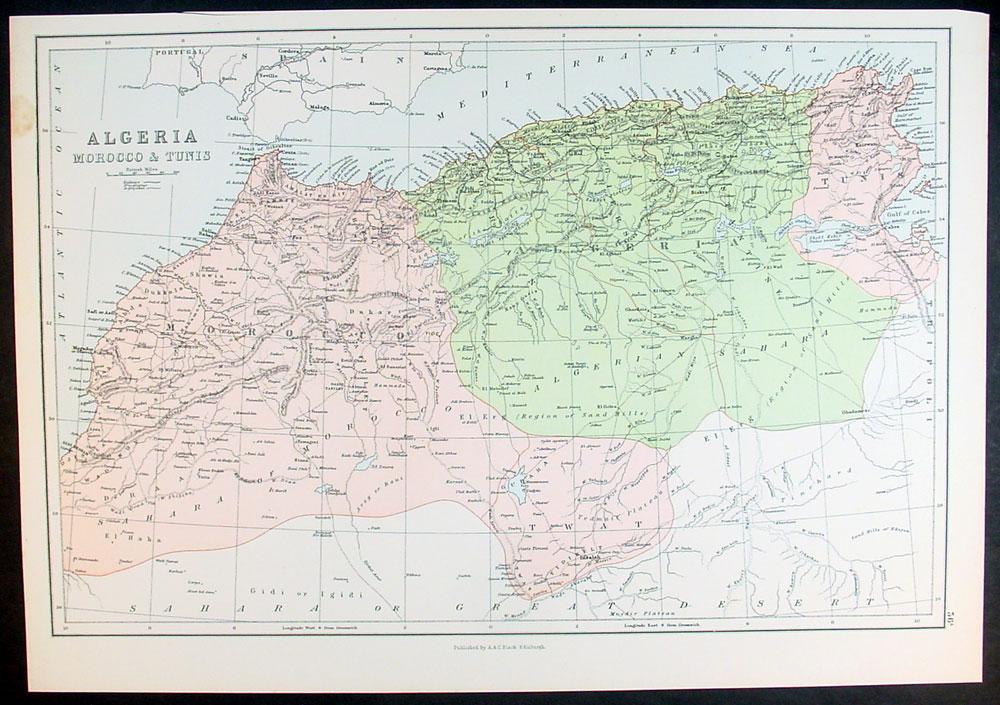 阿尔及利亚城市地图