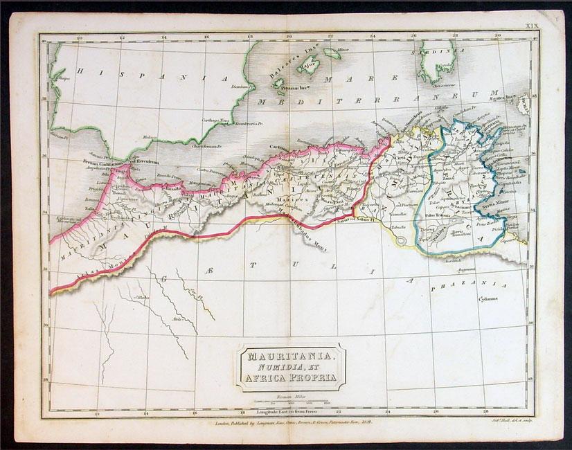 1829悉尼堂古地图西北非洲,摩洛哥等